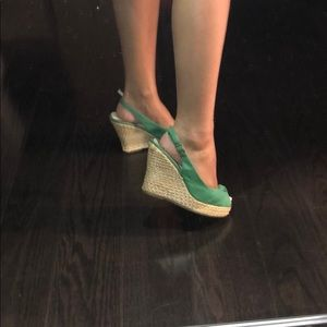 Steve Madden Shoes - green open toe steve madden wedges
